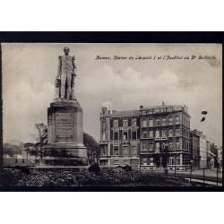 Belgique - Namur - Statue de Leopold I et l'institut ophtalmique du docteur Bribosia
