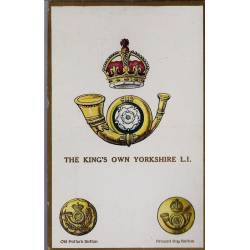 Insigne de régiment - The King's own Yorkshire L.I. Carte n'ayant pas voyagé