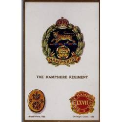 Insigne de régiment - The Hampshire regiment Carte n'ayant pas voyagé