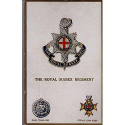 Insigne de régiment - The Royal Sussex Regiment Carte n'ayant pas voyagé