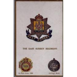 Insigne de régiment - The East Surrey Regiment Carte n'ayant pas voyagé