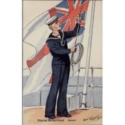 Armée Britannique - Le matelot - 1940 Illustrée par Maurice Toussaint - Carte