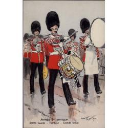 Armée Britannique - Tambour - Scotts Guards - Grande tenue Illustrée par Mauri