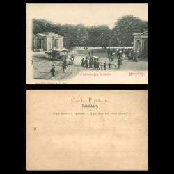 Belgique - Bruxelles - L'entrée du bois - La Cambre - hippobus - animée - Relief
