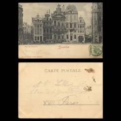 Belgique - Bruxelles - L'hotel des Brasseurs - 1906