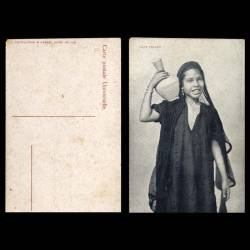 Egypte - Fille Fellah porteuse d'eau