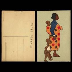 Madagascar - Dessin - Jeune femme et ses enfants