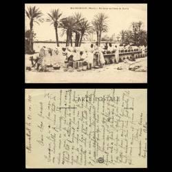 Maroc - Marrakech - Un lavoir au camp de Guéliz - Animée