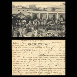 Maroc - Casablanca - Intérieur d'un fondouk - Trés animée