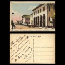 Maroc - Casablanca - Le boulevard de la liberté et le service des colis postaux