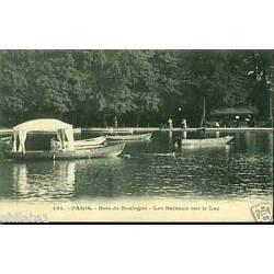 75 - Paris -Le bois de boulogne -Les bateaux sur le lac