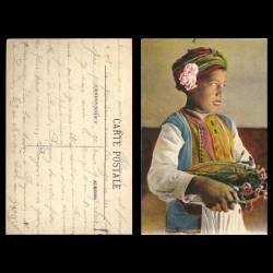Maroc - Scènes et types - Petit marchand de fleurs - Beau plan