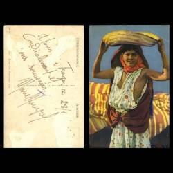 Maroc - Scènes et types - Une fille mauresque sein nu
