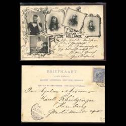 Pays-Bas - Souvenir de Hollande - Vue de jeunes femmes de Hollande - 1899