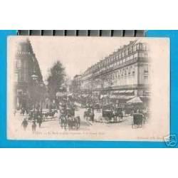 PARIS -ATTELAGES -FIACRES -Bd DES CAPUCINES ET Gd HOTEL