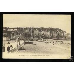 76 - Dieppe - Le boulevard Maritime et la plage