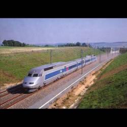 TGV Atlantique - Record du Monde de vitesse sur Rail 515.3 km:h le 18 mai 1990 - carte neuve