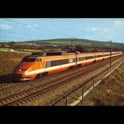 TGV qui dessert depuis octobre 1981 le sud-est de la France à la vitesse de 260km/h - Carte neuve