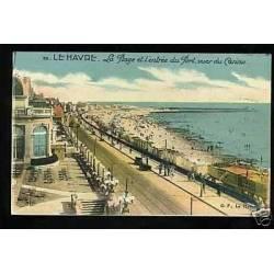 76 - Le Havre - La plage et l'entree du port