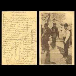 Grece - Salonique - Types de Portefaix et Débardeurs - Street porters and lumpers - 1918