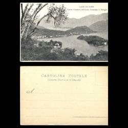 Italie - Lago di Como - Veduta generale dall'Isola Comacina a Bellagio