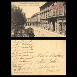 Italie - Alessandria - Palazzo Prefettura - Banca d'Italia e Cassa di Risparmio - Tramway