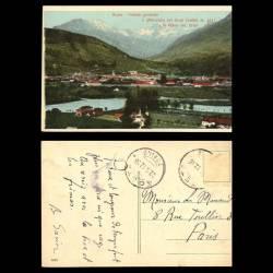 Italie - Aoste - Veduta generale e ghiacciaio del Gran Conbin e il Villan mt.