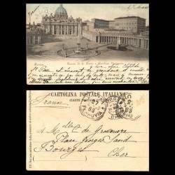 Italie - Rome - Piazza de S. Pietro e Basilica Vaticana - 1902