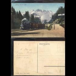 Suisse - Brünig - Train arrété à la halte
