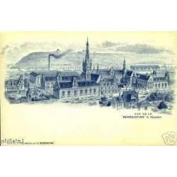 76 - Vue de la Benedictine à Fecamp - Pub au dos