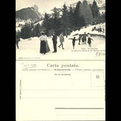 Suisse - Caux - Au patinage - La Dent de Jaman et les rochers de Naye - Animée
