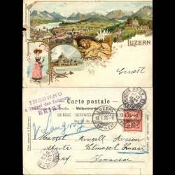 Suisse - Rare carte lytho - Luzern - 1905 - Ansicht vom Gütsch - Abimée sur le coté gauche