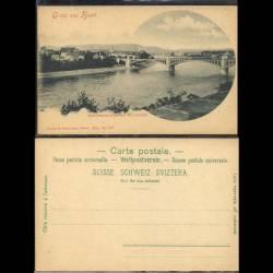 Suisse - Gruss aus Basel - Wettsteinbrücke mit Kleinbasel