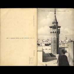 Tunisie - Tunis - Les minarets et maisons arabes