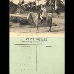 Tunisie - Gabes - Un cavalier de Fantasia - Beau plan