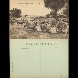 Tunisie - Scenes et types - Un marché aux bestiaux - Beau plan