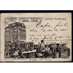 Belgique - Expo. Universelle Liege 1905 - LA maison Havart - Le marché aux fruits - illustrée par Théo Smeets - Edition