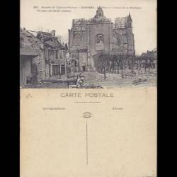 02 - Essomes - La place et l'entrée de la Basilique - bataille de Chateau Thierr