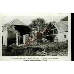 80 - GRIVILLIERS - COURS DE FERME - GUERRE 1914-15