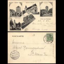 67 - Gruss aus Dambach - Multivue - 1904