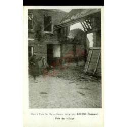 80 - LIHONS - COIN DU VILLAGE - GUERRE 1914-15