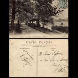 69 - Lyon - Parc de la Tete d'Or - Allée au bord du lac