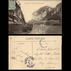 69 - Vue du Rhone et des rochers de Pierre-Chatel