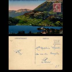 74 - Annecy-Duingt - L'eglise - le chateau et Talloires
