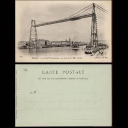 76 - rouen - Le pont transbordeur pris de la rive gauche