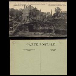 80 - Ham - Canal et rue de Chauny