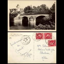 89 - Cravant - L'Yonne Le pont RN 6 L'eglise