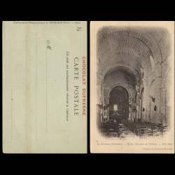 16 - La Couronne - Eglise - Nef prise de l'entrée - Chocolat Dufresne
