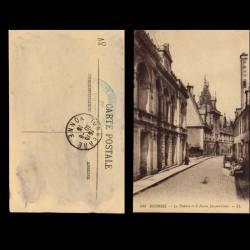 18 - Bourges - Le theatre et le palais Jacques Coeur