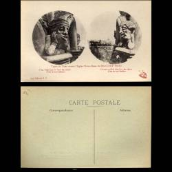 21 - Dijon - Types de tetes ornant l'eglise Notre Dame